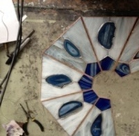 Building a stained glass lamp shade